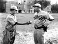 "Buster Keaton: In ""College"", Keaton goes out for the baseball team to win the heart of a co-ed."